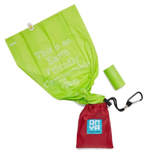 Onya Dog Waste Bags & Pouch - Chilli