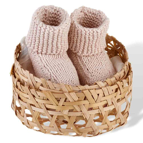 Pebble Baby Booties - Natural