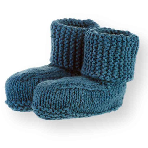 Pebble Baby Booties - Deep Blue