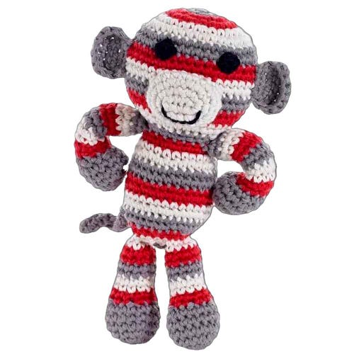 Pebble Ethical Toys - Monkey with Rattle