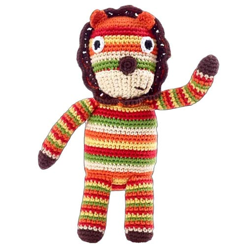 Pebble Ethical Toys - Lion with Rattle