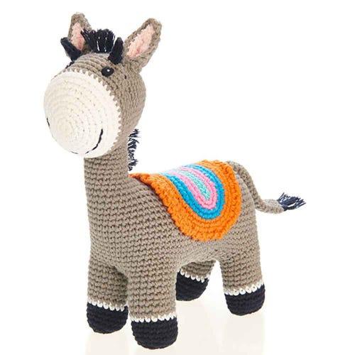 Pebble Ethical Toys  - Donkey with  Rattle