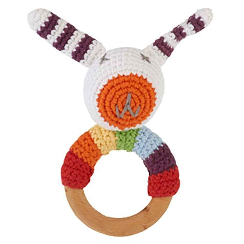 Pebble Ethical Toys  - Wooden Rattle Bunny