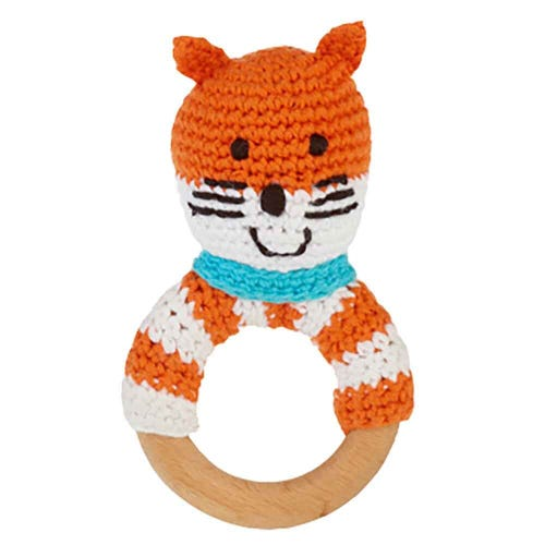 Pebble Ethical Toys  - Wooden Rattle Fox