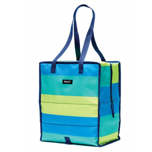 PackIt Freezable Grocery Tote Bag - Stripe