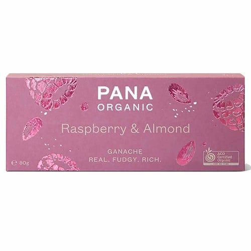 Pana Organic Raspberry & Almond Ganache (80g)