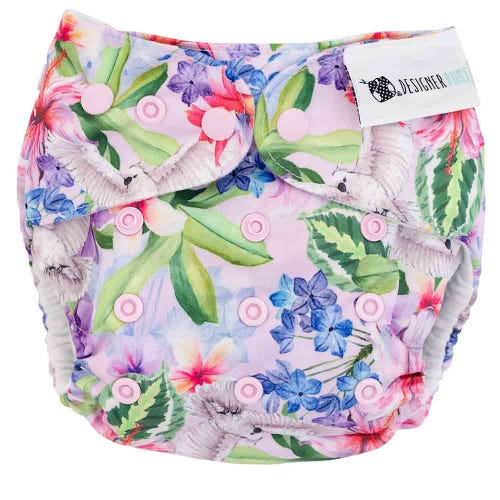 Designer Bums Reusable Nappy - Paradise Found