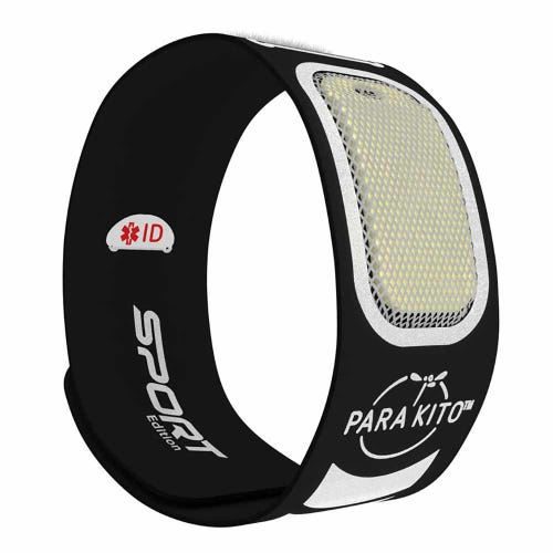Parakito Mosquito Protect Sports Wristband - Black