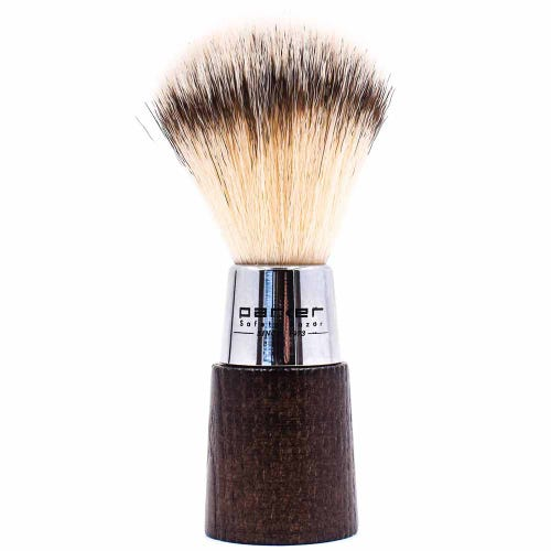 Parker Vegan Shaving Brush - Wood & Chrome