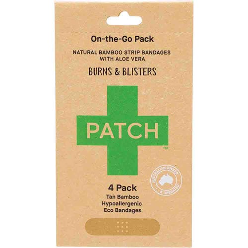 Patch Bamboo Strip Bandages - Aloe 4 Pack