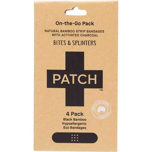 Patch Bamboo Strip Bandages - Activated Charcoal 4 Pack