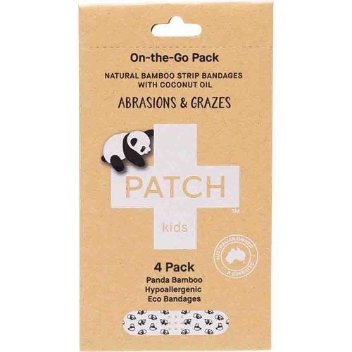 Patch Bamboo Strip Bandages - Kids  4 Pack