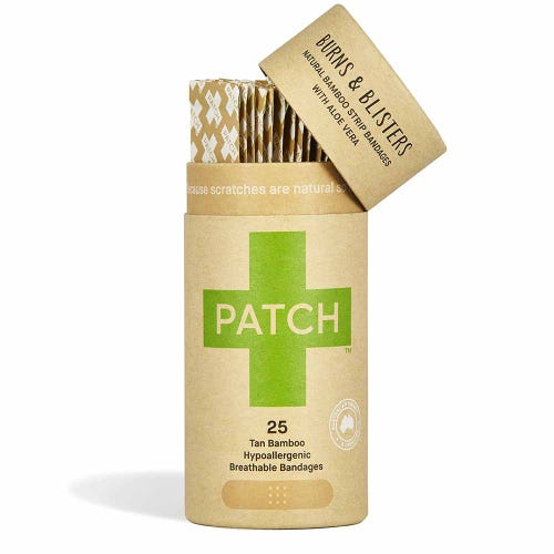 Patch Bamboo Strip Bandages - Aloe 25 Pack