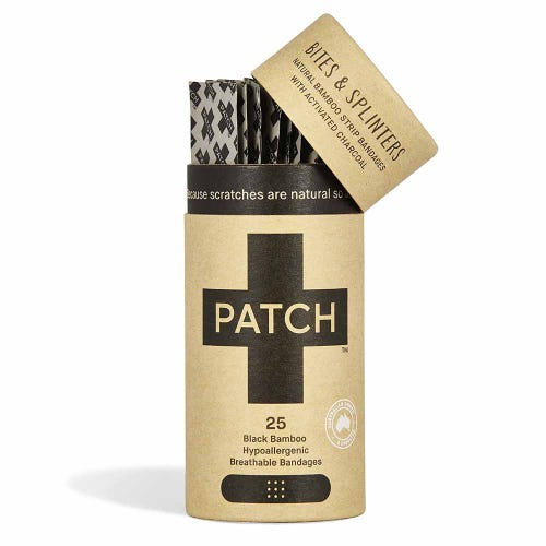 Patch Bamboo Strip Bandages - Activated Charcoal 25 Pack