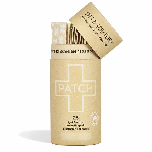 Patch Bamboo Strip Bandages - Natural 25 Pack