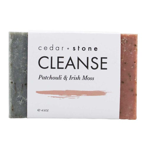 Cedar + Stone Cleanse Bar Patchouli and Irish Moss (140g)