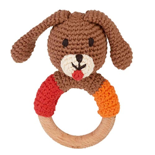 Pebble Ethical Toys  - Wooden Rattle Dog