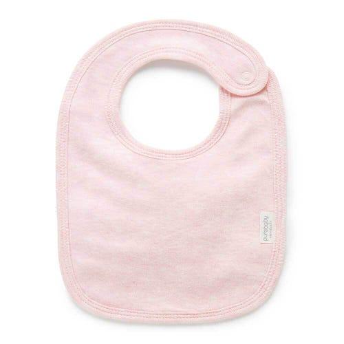 Purebaby Bib - Pale Pink Melange
