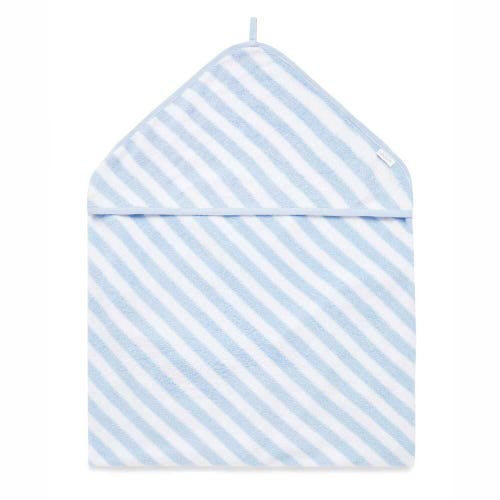 Purebaby Hooded Towel - Pale Blue Stripe