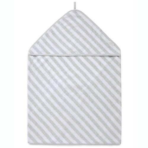 Purebaby Hooded Towel - Pale Grey Stripe