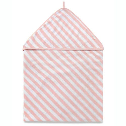 Purebaby Hooded Towel - Pale Pink Stripe