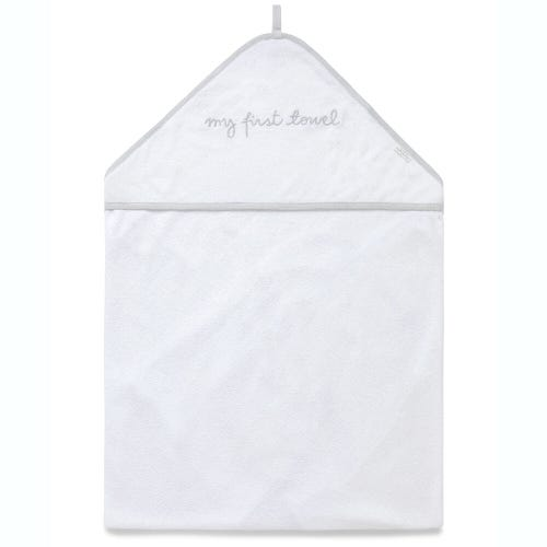 Purebaby Hooded Towel - White