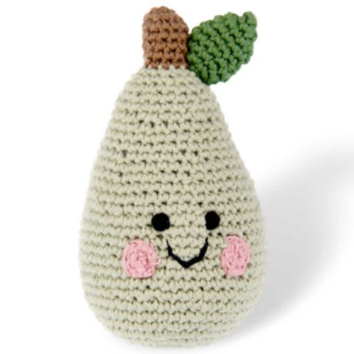 Pebble Ethical Toys - Pear Friendly Fruit Rattle