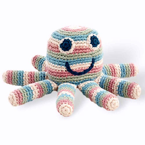 Pebble Ethical Toys - Organic Octopus with Rattle