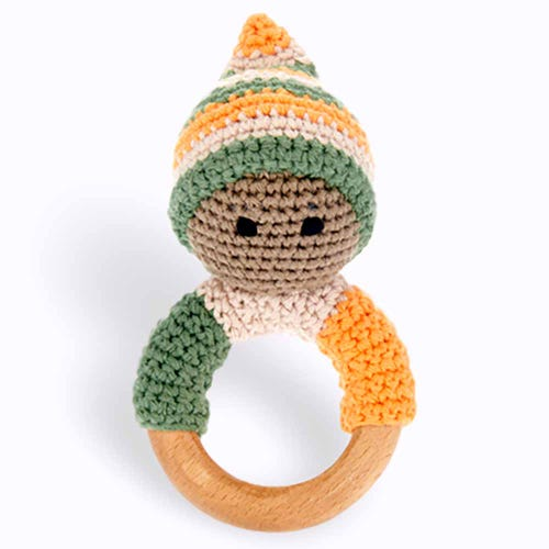 Pebble Ethical Toys - Khaki Pixie Wooden Ring