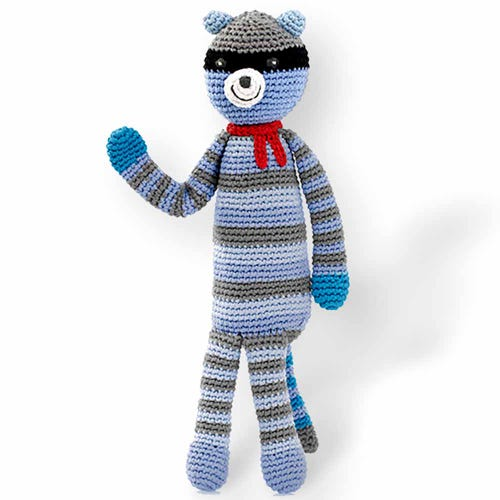 Pebble Ethical Toys - Raccoon with Rattle