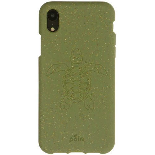 Pela Phone Case iPhone XS - Moss Turtle Edition