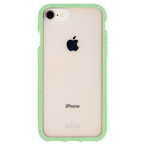 Pela Neo Mint Compostable Clear Phone Case