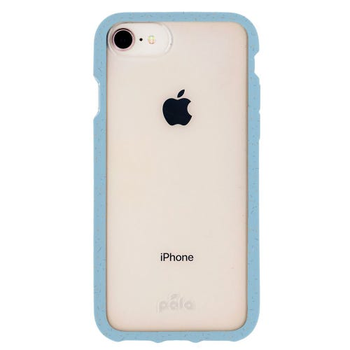 Pela Purist Blue Compostable Clear Phone Case