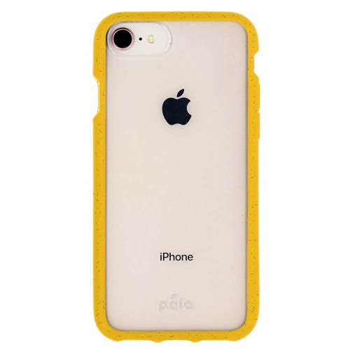 Pela Yellow Compostable Clear Phone Case