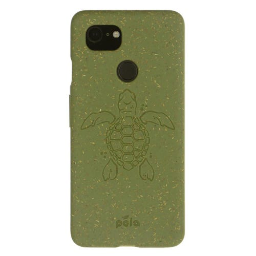 Pela Phone Case Google Pixel 3 - Moss Turtle Edition