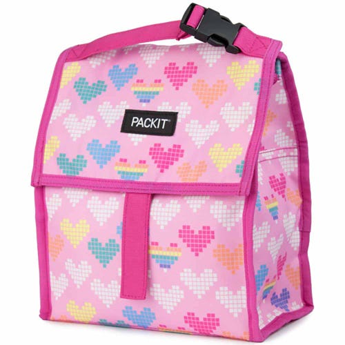 PackIt Freezable Lunch Bag - Pixel Heart