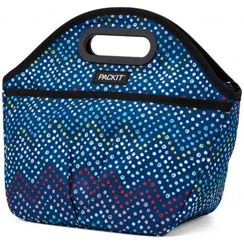 PackIt Freezable Traveller Lunch Bag - Dottie Chevron