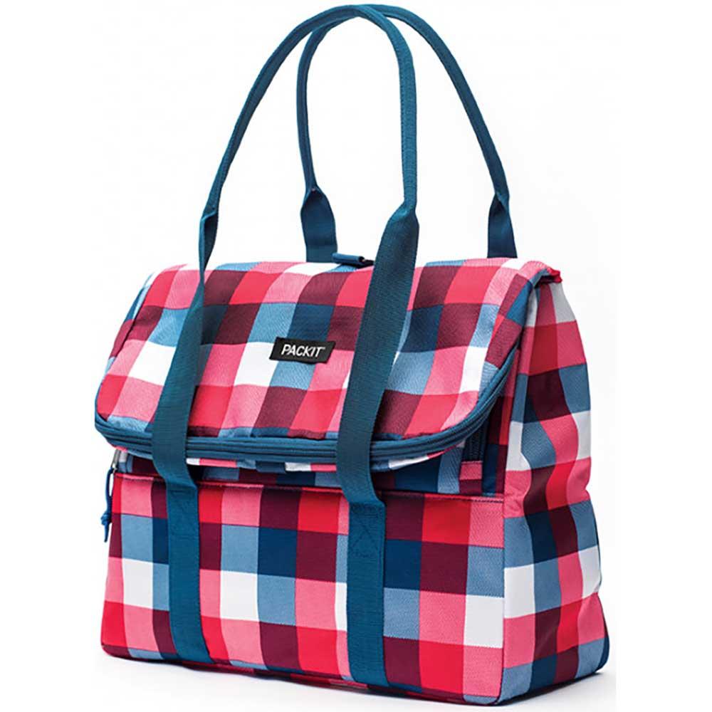 PackIt Freezable PIcnic Tote Bag - Buffalo Checks