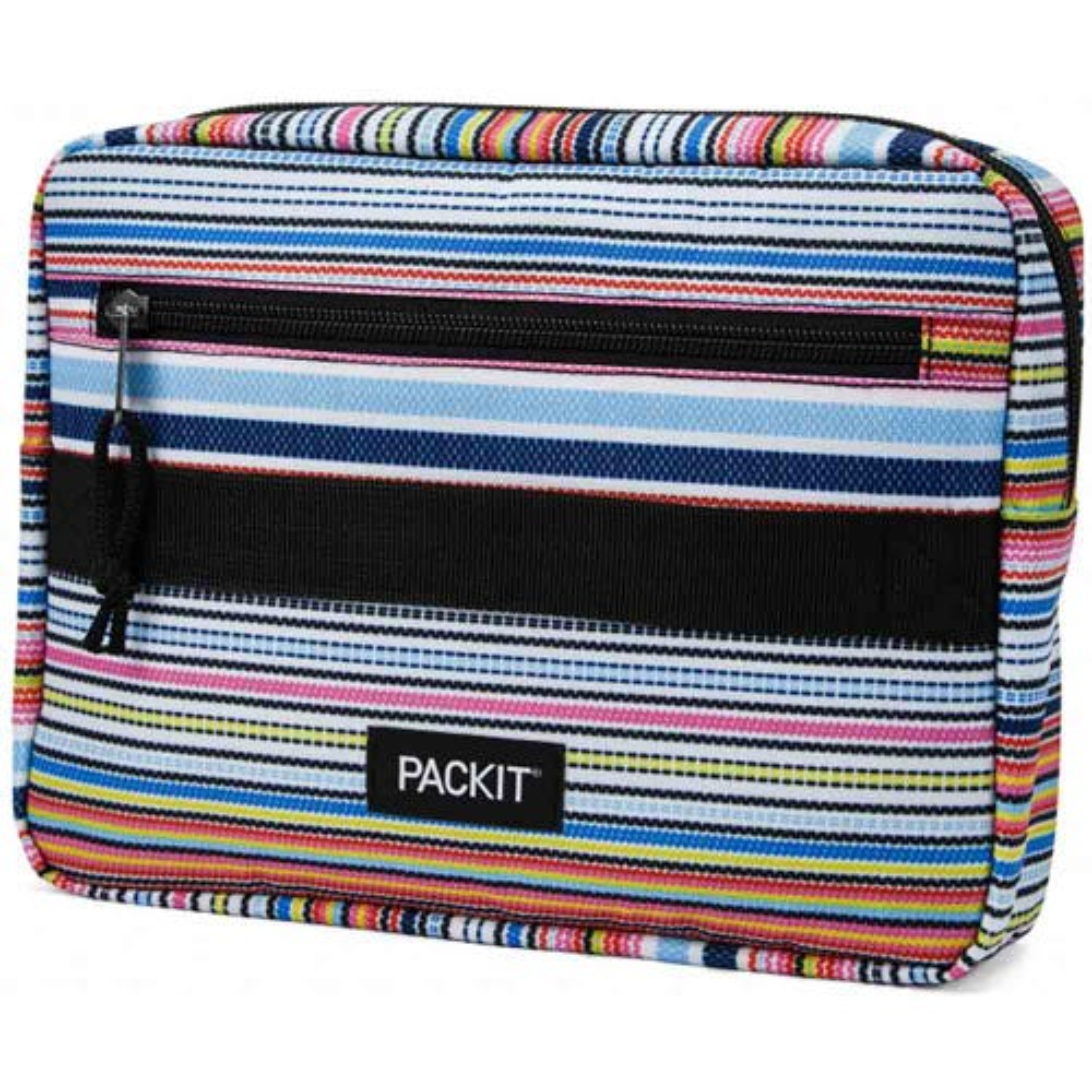 PackIt Freezable Bento Lunch Box Bag - Blanket Stripe