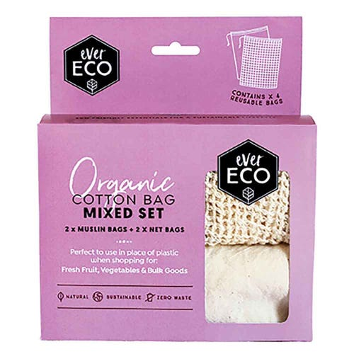 Ever Eco Reusable Organic Cotton Produce Bags - Mixed Set