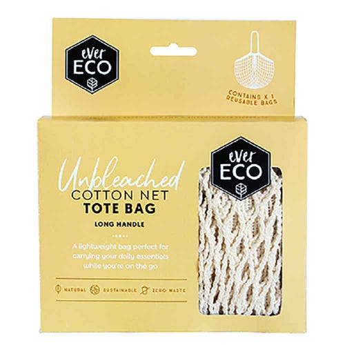 Ever Eco Cotton Net Tote Bag Long Handle