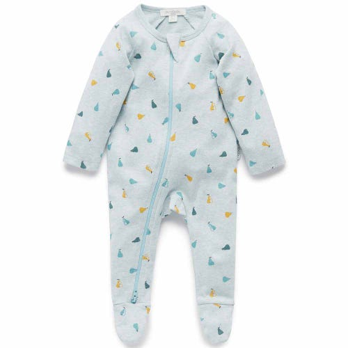 Purebaby Zip Growsuit - Autumn Pear