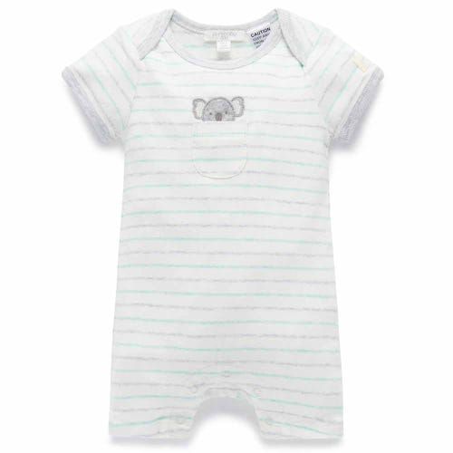 Purebaby Short Growsuit - Peekaboo Koala