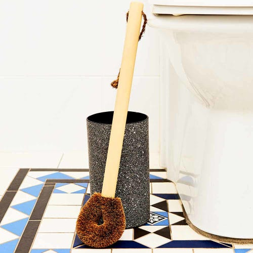Paper Pottery Toilet Brush Holder - Granite Look