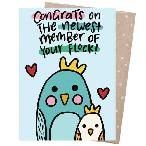 Earth Greetings Blank Card - Baby Cockatoo