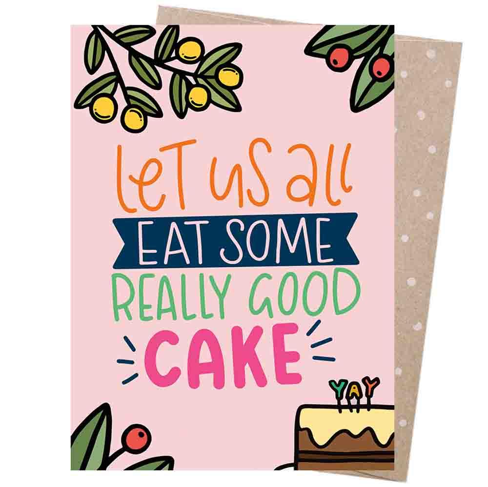 Earth Greetings Blank Card - Birthday Cake