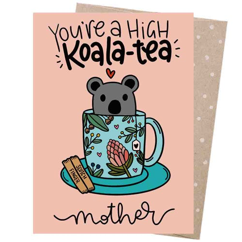 Earth Greetings Blank Card - Koala Tea Mum