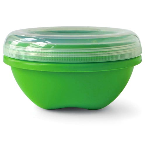 Preserve Food Container Small & Round - Green (1 Unit)