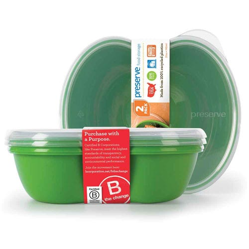 Preserve Lunch & Food Container - Green (Set of 2)