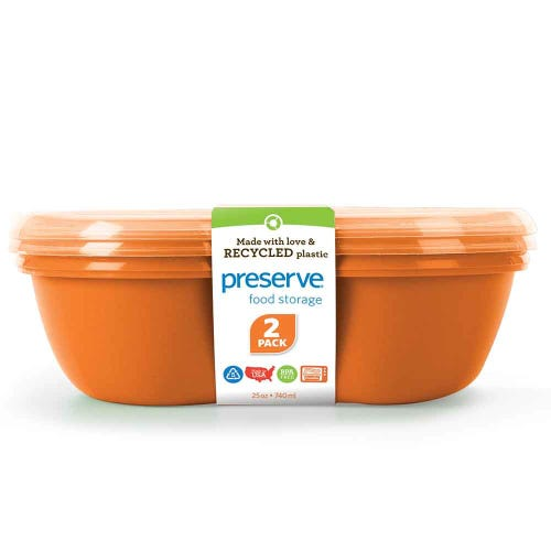 Preserve Lunch & Food Container - Orange (Set of 2)